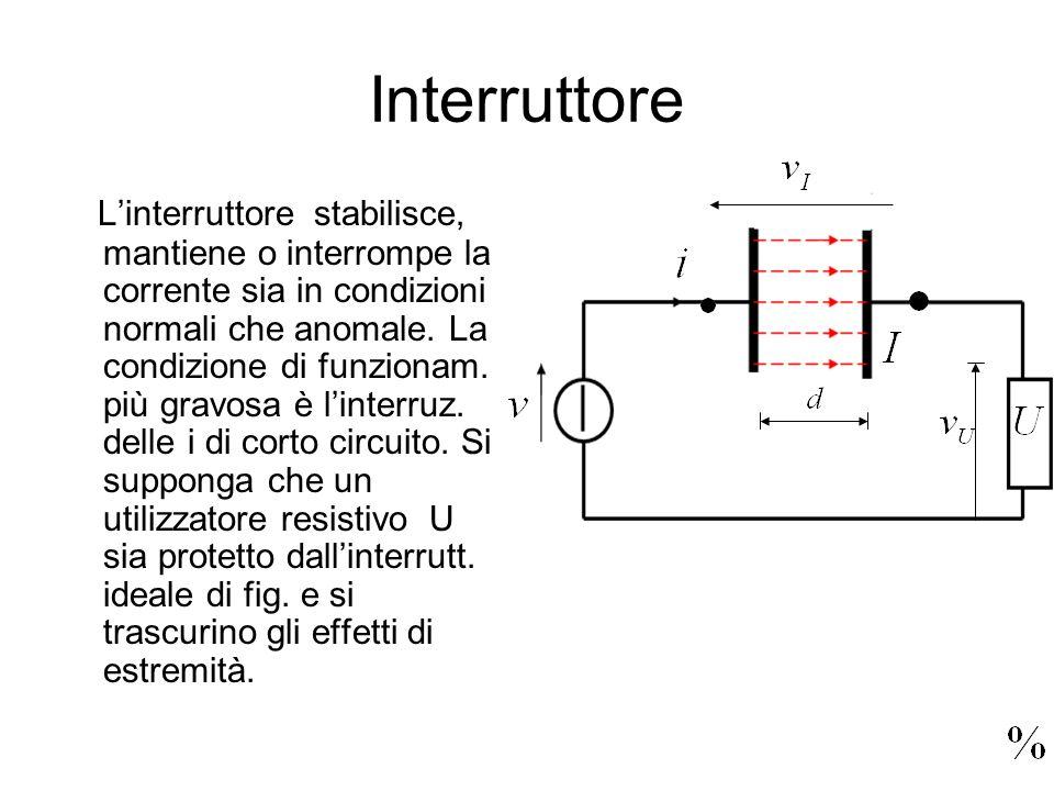 Interruttore Linterruttore stabilisce, mantiene o interrompe la corrente sia in condizioni normali che anomale. La condizione di funzionam. più gravos