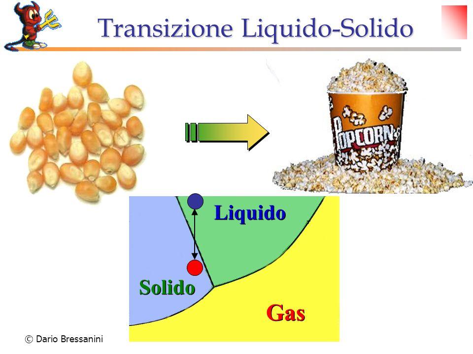 © Dario Bressanini Transizione Liquido-Solido Gas Solido Liquido