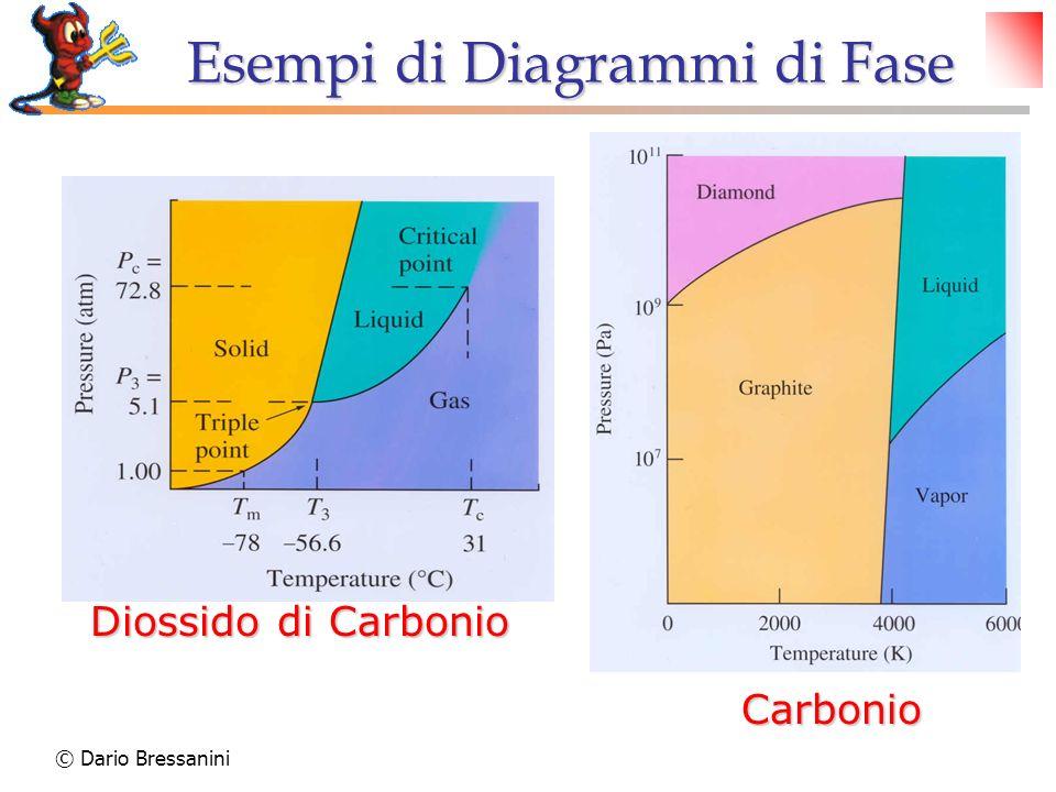 Carbonio Diossido di Carbonio Esempi di Diagrammi di Fase