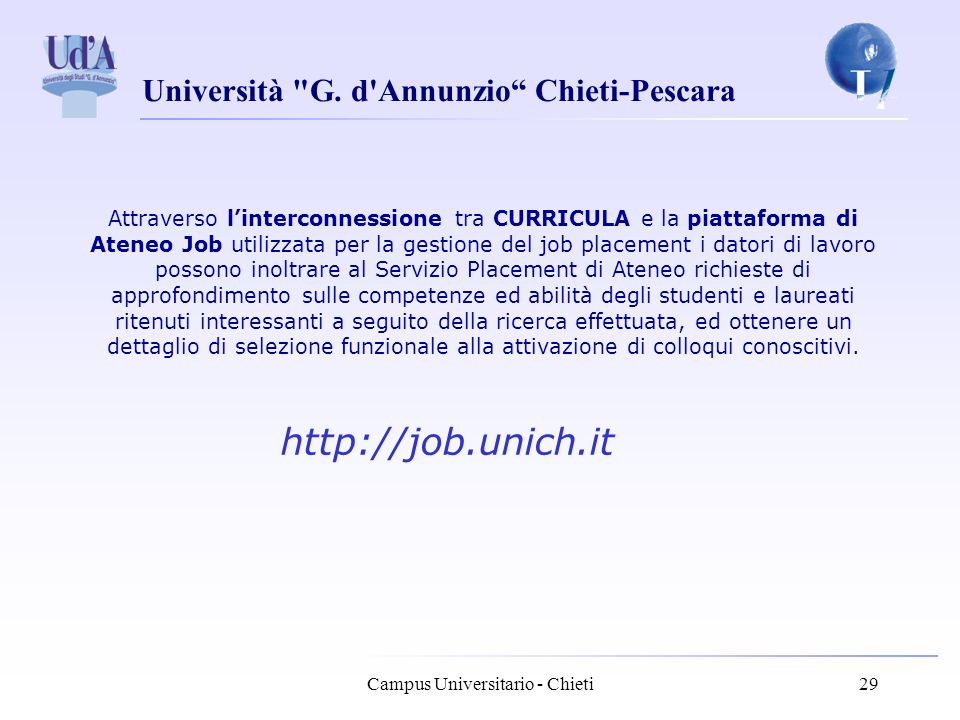 Università G. d Annunzio Chieti-Pescara Campus Universitario - Chieti30