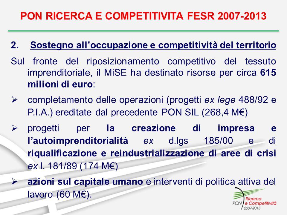 PON RICERCA E COMPETITIVITA FESR 2007-2013 3.