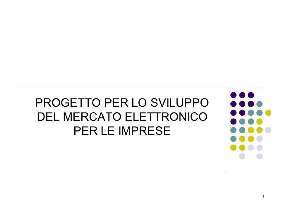 PROGETTO PER LO SVILUPPO DEL MERCATO ELETTRONICO PER LE IMPRESE 1