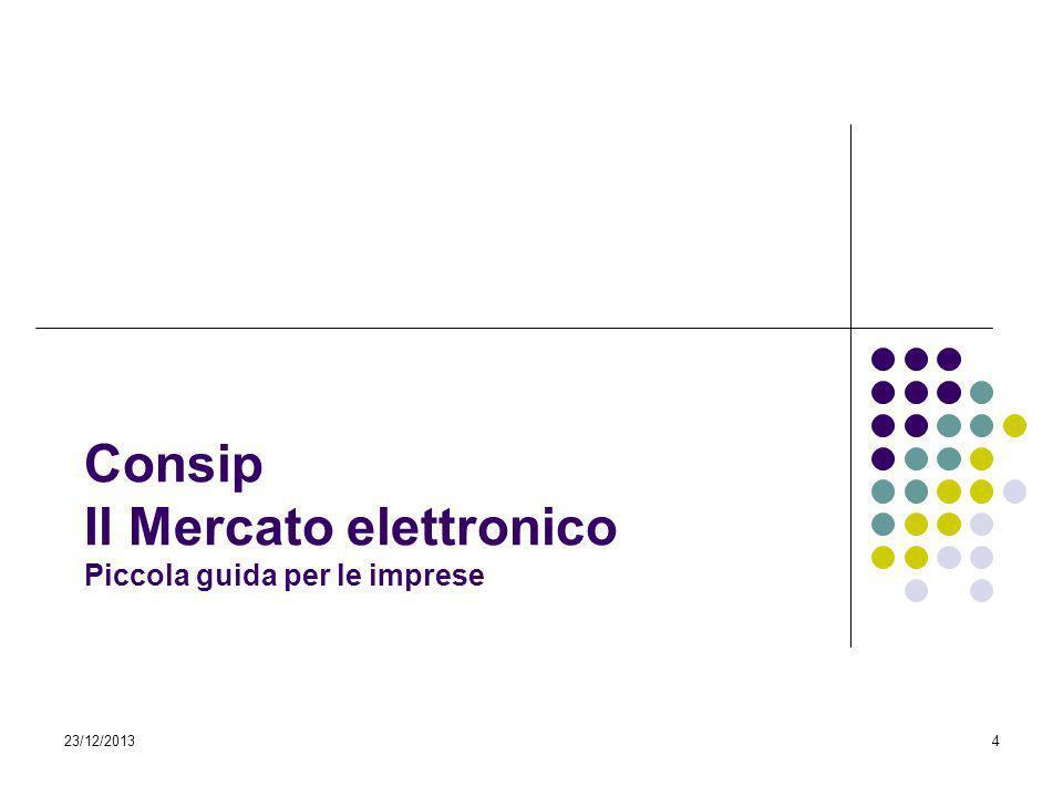 4 Consip Il Mercato elettronico Piccola guida per le imprese