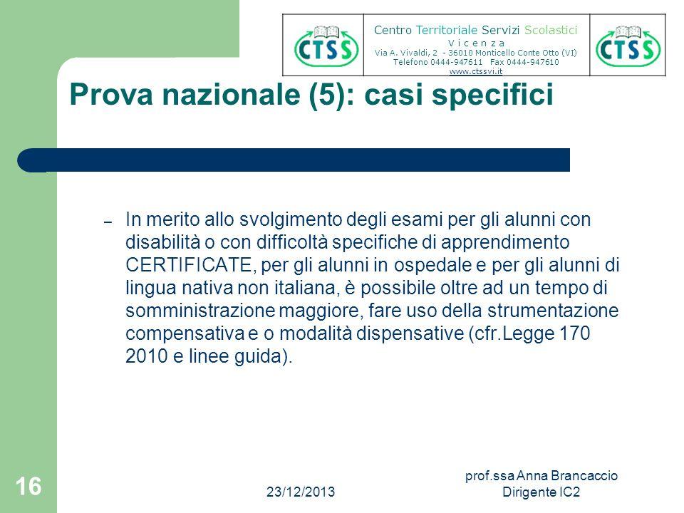 Prova nazionale (5): casi specifici – In merito allo svolgimento degli esami per gli alunni con disabilità o con difficoltà specifiche di apprendiment