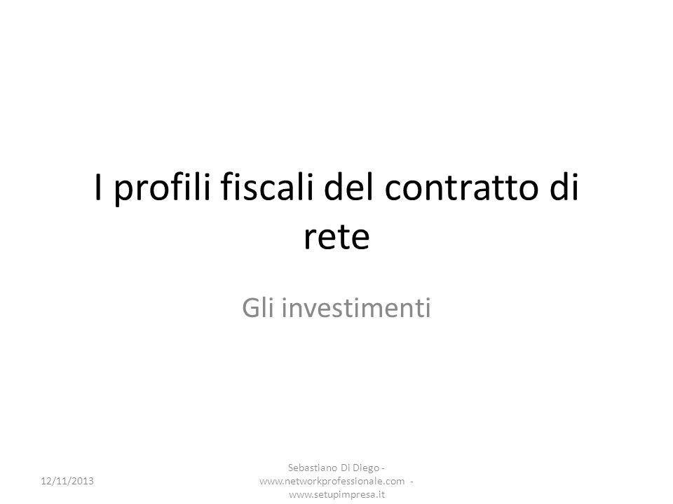 Investimenti agevolabili (1) Gli utili accantonati alla riserva detassata sono vincolati alla realizzazione degli investimenti previsti dal programma comune di rete.