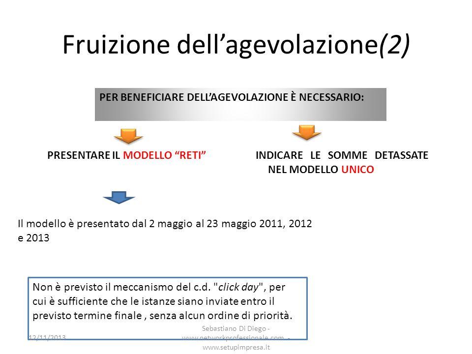 Fruizione dellagevolazione(2) Il modello è presentato dal 2 maggio al 23 maggio 2011, 2012 e 2013 PER BENEFICIARE DELLAGEVOLAZIONE È NECESSARIO: PRESE