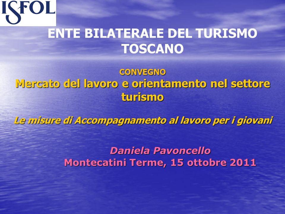CONVEGNO Mercato del lavoro e orientamento nel settore turismo Le misure di Accompagnamento al lavoro per i giovani CONVEGNO Mercato del lavoro e orie