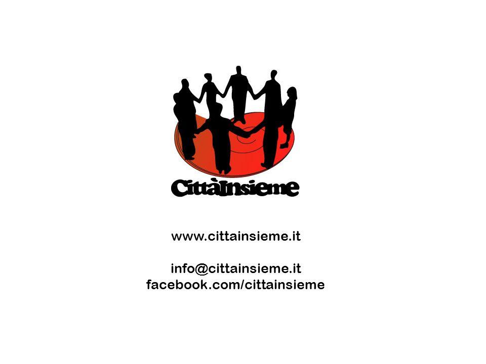 www.cittainsieme.it info@cittainsieme.it facebook.com/cittainsieme