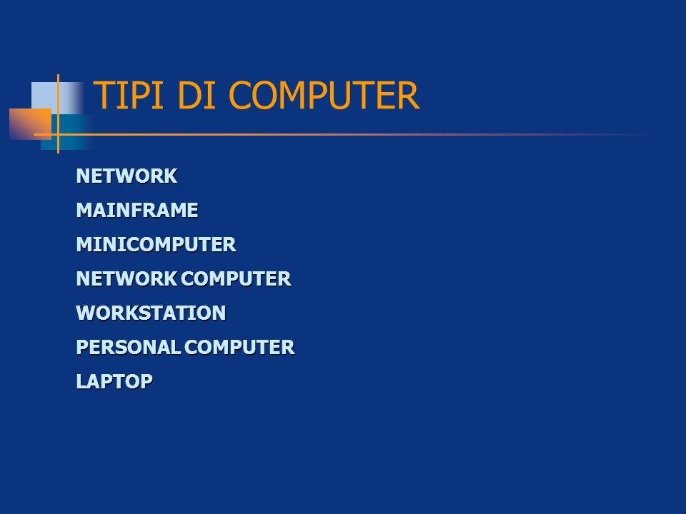 NETWORKMAINFRAMEMINICOMPUTER NETWORK COMPUTER WORKSTATION PERSONAL COMPUTER LAPTOP