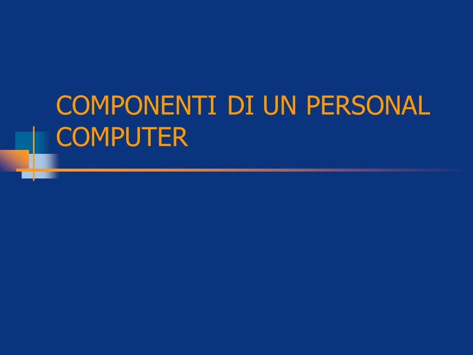 COMPONENTI DI UN PERSONAL COMPUTER