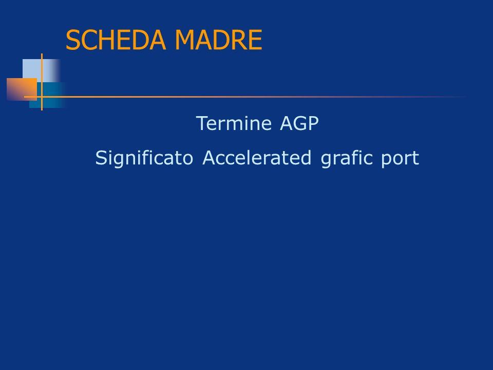 SCHEDA MADRE Termine AGP Significato Accelerated grafic port