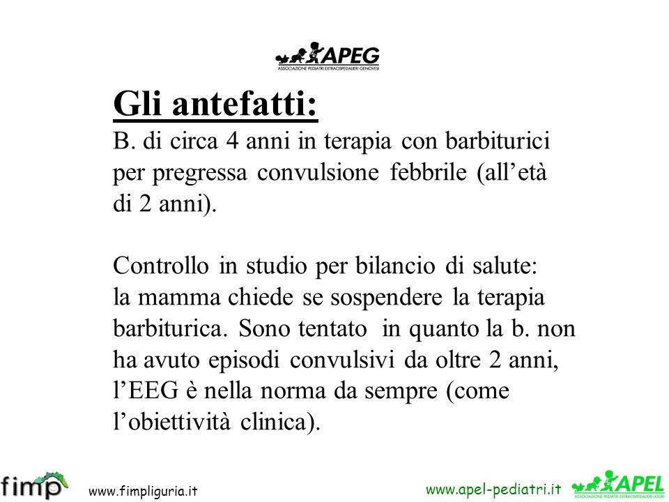 www.fimpliguria.it www.apel-pediatri.it Un caso indimenticabile Meditazioni, a distanza di tempo, su: - Rapporti con la famiglia - Informazioni alla f