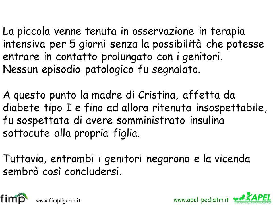 www.fimpliguria.it www.apel-pediatri.it Un giorno,in concomitanza con l'esecuzione di un cateterismo selettivo pancreatico, fu colta dall'ennesimo gra
