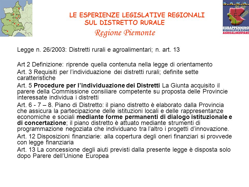 PROGETTO EQUAL S.A.R.A.