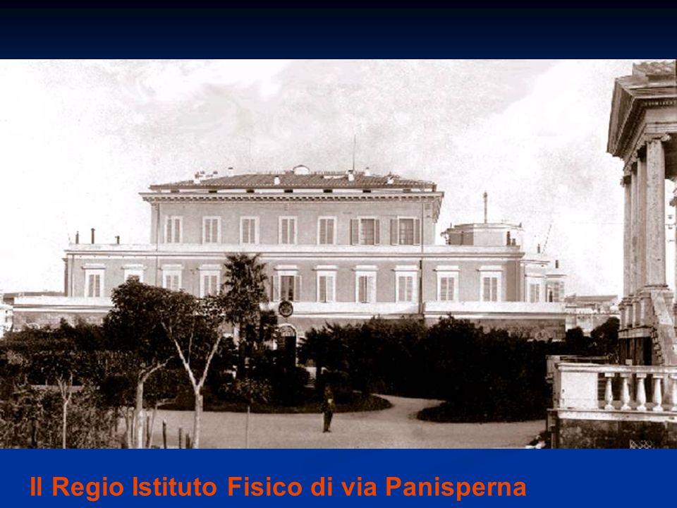 Il Regio Istituto Fisico di via Panisperna