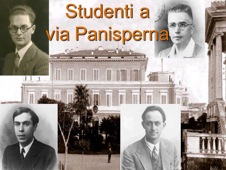 Studenti a via Panisperna