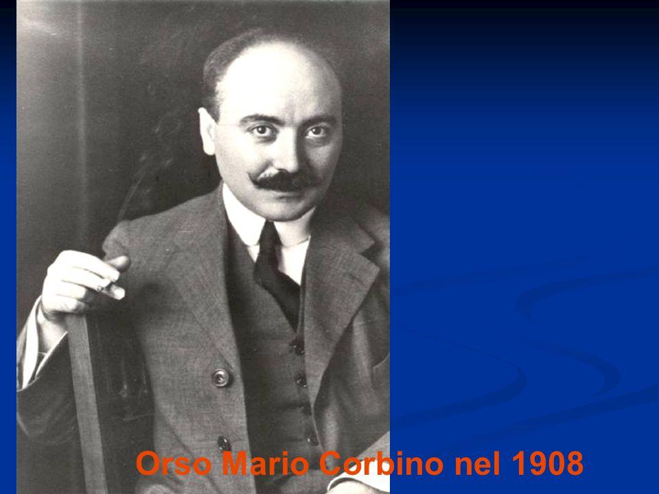 Orso Mario Corbino nel 1908