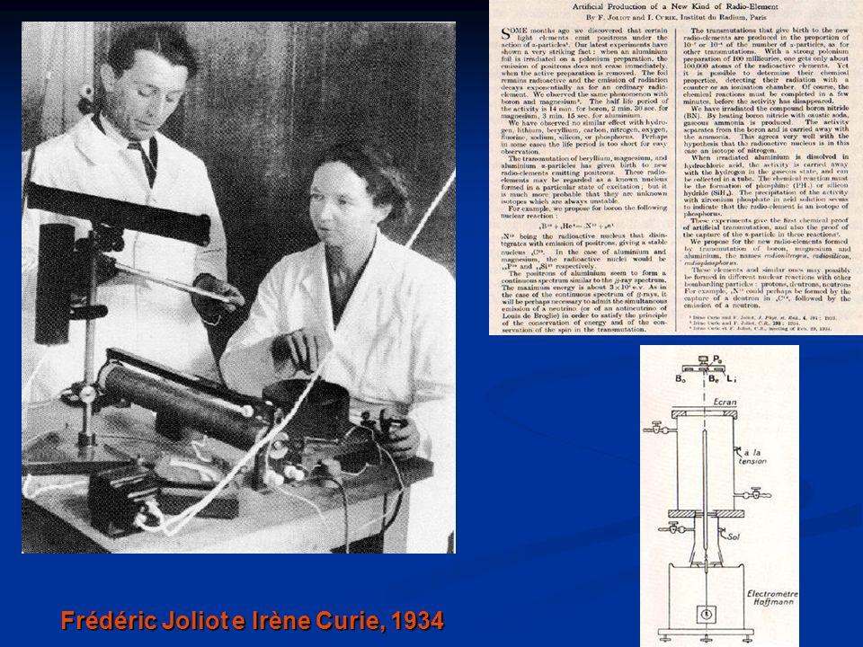 Frédéric Joliot e Irène Curie, 1934