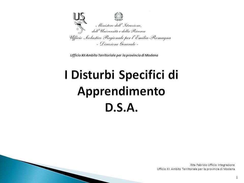 Un po di storia…le note dellUfficio Scolastico Regionale per lEmilia-Romagna Nota USR ER prot.