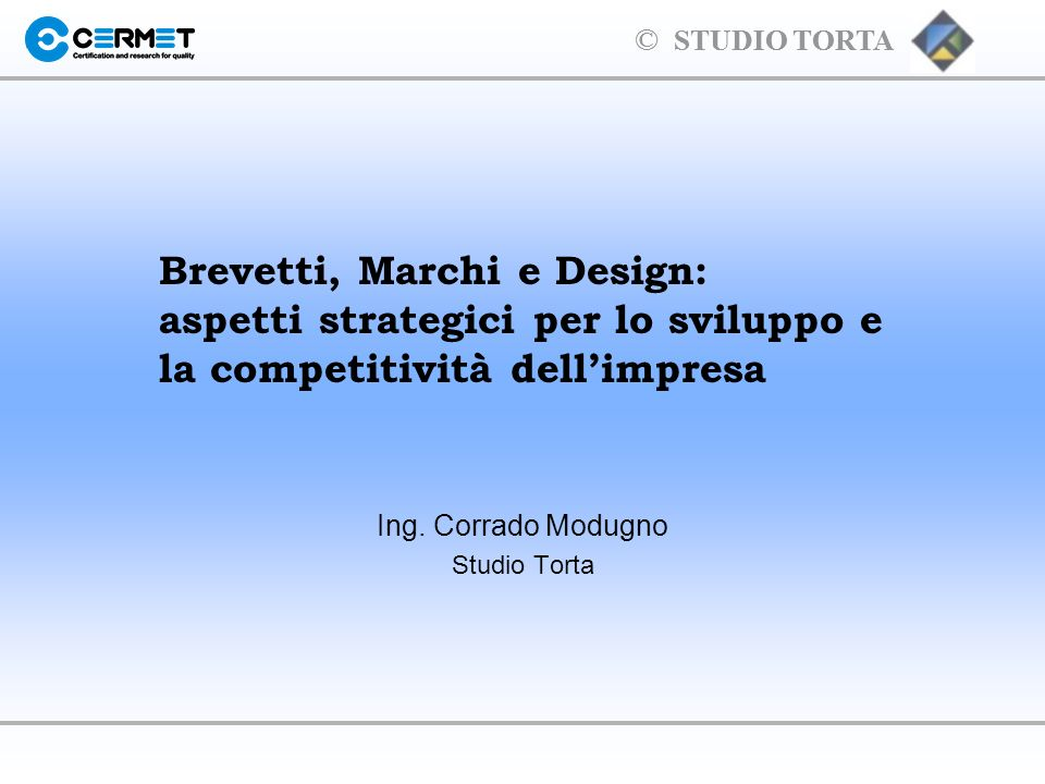 © STUDIO TORTA Esempi di idee inventive