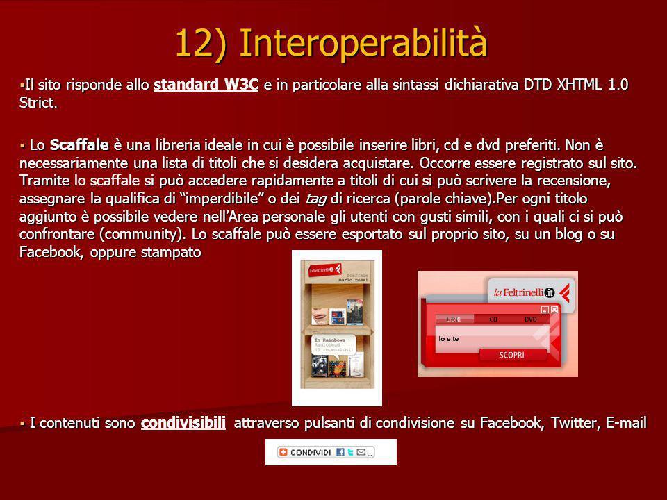 Il sito risponde allo e in particolare alla sintassi dichiarativa DTD XHTML 1.0 Strict.