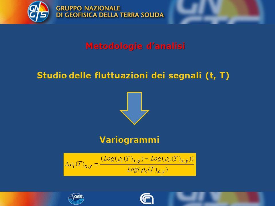 Metodologie danalisi Studio delle fluttuazioni dei segnali (t, T) Variogrammi