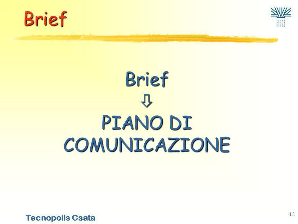 Tecnopolis Csata 13 Brief PIANO DI COMUNICAZIONE Brief