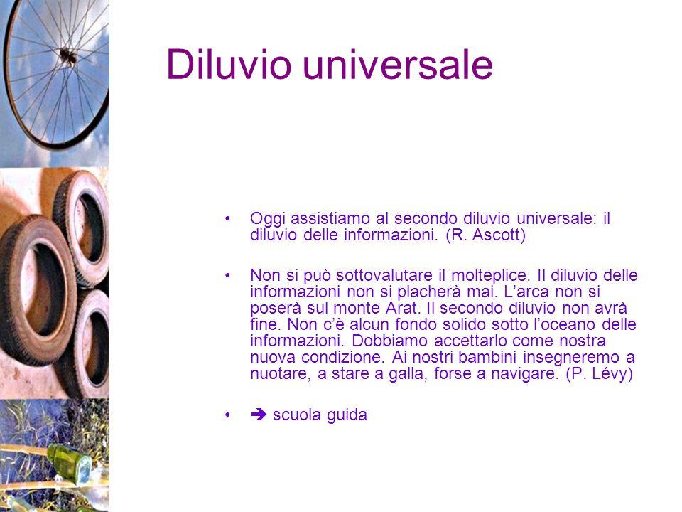 Diluvio universale Oggi assistiamo al secondo diluvio universale: il diluvio delle informazioni.