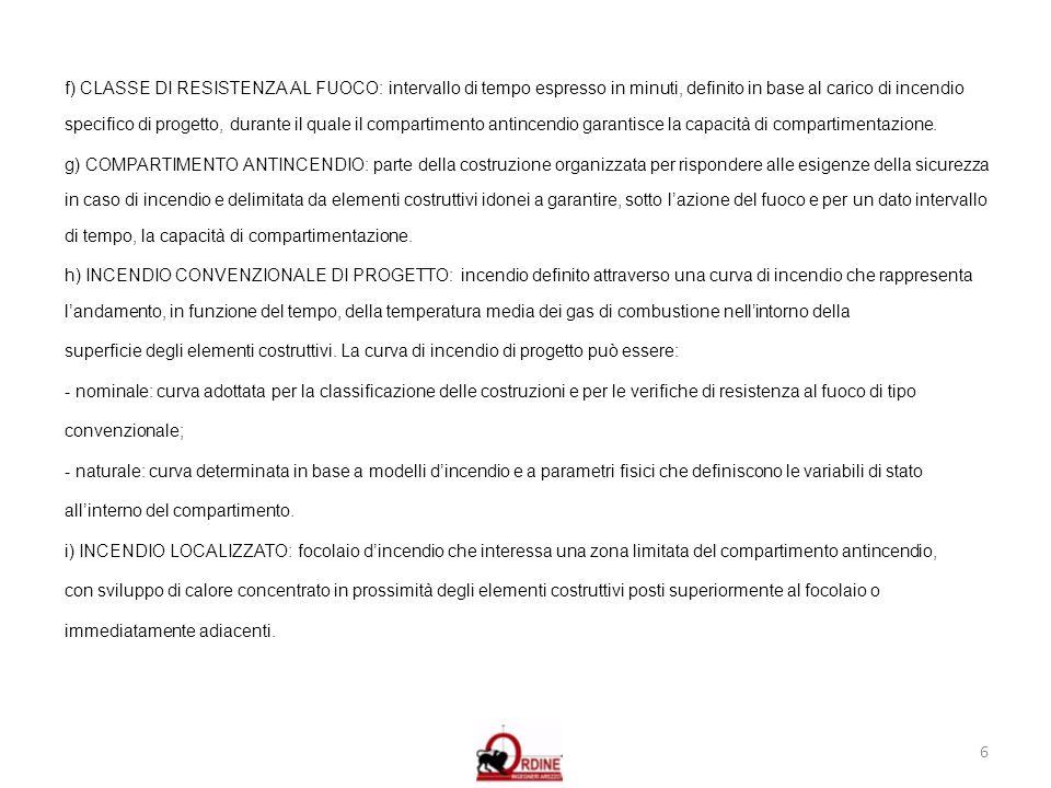 7 j) RESISTENZA AL FUOCO: una delle fondamentali strategie di protezione da perseguire per garantire un adeguato livello di sicurezza della costruzione in condizioni di incendio.