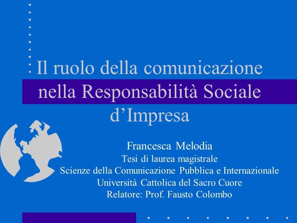 Come può la comunicazione aiutare la diffusione e lo sviluppo della RSI.
