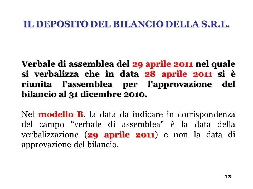 Verbale di assemblea del 29 aprile 2011 nel quale si verbalizza che in data 28 aprile 2011 si è riunita l'assemblea per l'approvazione del bilancio al