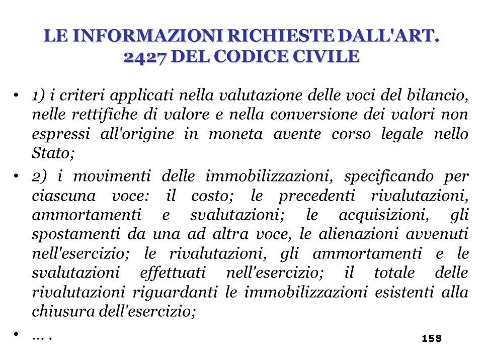 1) i criteri applicati nella valutazione delle voci del bilancio, nelle rettifiche di valore e nella conversione dei valori non espressi all'origine i