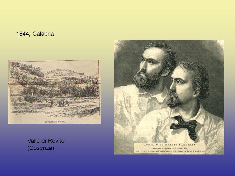 1844, Calabria Valle di Rovito (Cosenza)