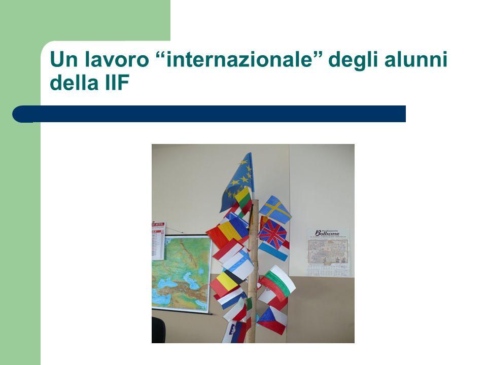 Un lavoro internazionale degli alunni della IIF