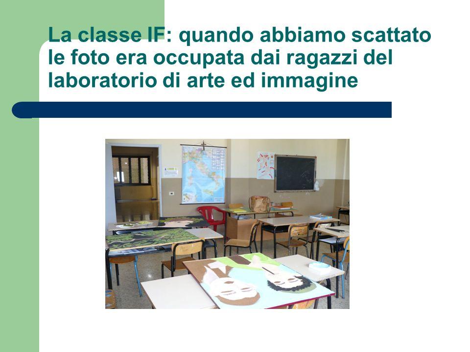 La classe IF: quando abbiamo scattato le foto era occupata dai ragazzi del laboratorio di arte ed immagine