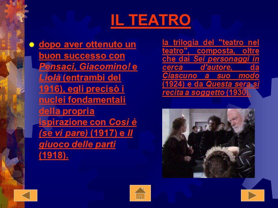 Luigi Pirandello Nato ad Agrigento 1867, fu uno dei massimi drammaturghi e letterati del Novecento. premio Nobel (1934), sue migliori opere narrative,