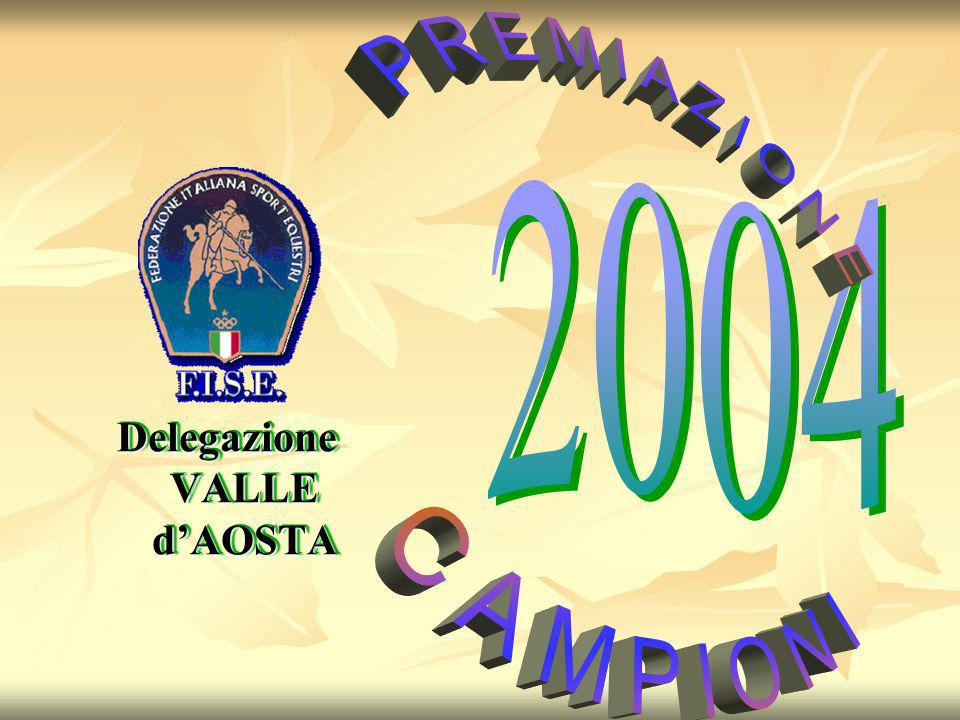 Campionato Regionale 2004 Categoria PONY – A2 – 10 km 1° Beatrice MUNIER ENDURANCE Categoria PONY – B2 – 10 km 1° Erik PERRON