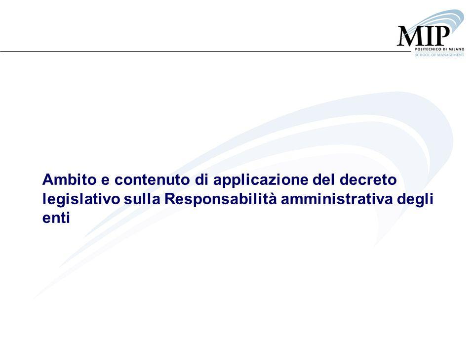 Ambito e contenuto di applicazione del decreto legislativo sulla Responsabilità amministrativa degli enti