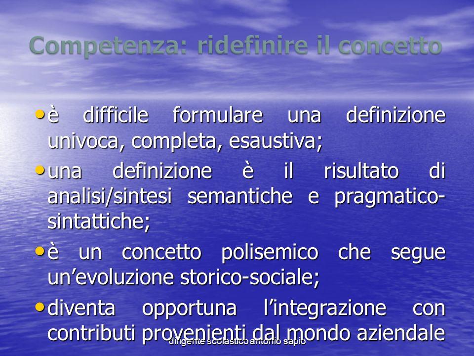 dirigente scolastico antonio sapio è difficile formulare una definizione univoca, completa, esaustiva; è difficile formulare una definizione univoca,