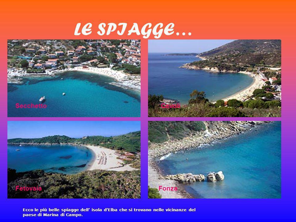 LE SPIAGGE… SecchettoCavoli FetovaiaFonza Ecco le più belle spiagge dell isola dElba che si trovano nelle vicinanze del paese di Marina di Campo.