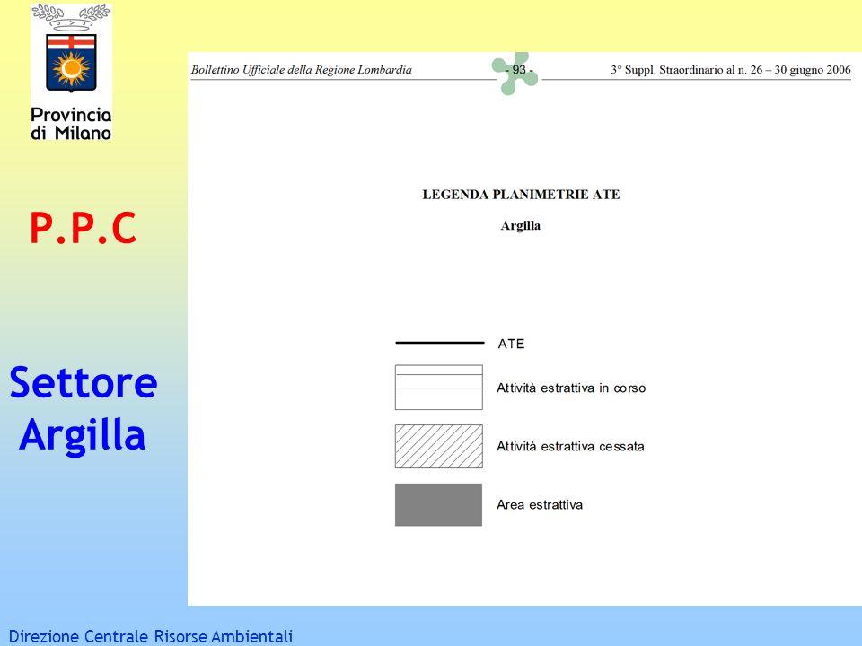 P.P.C Settore Argilla Direzione Centrale Risorse Ambientali