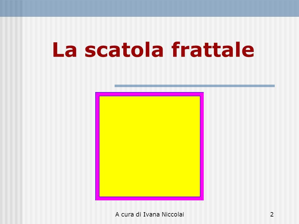 A cura di Ivana Niccolai3 La scatola frattale Costruzione Si parte da un quadrato con il lato di lunghezza unitaria.