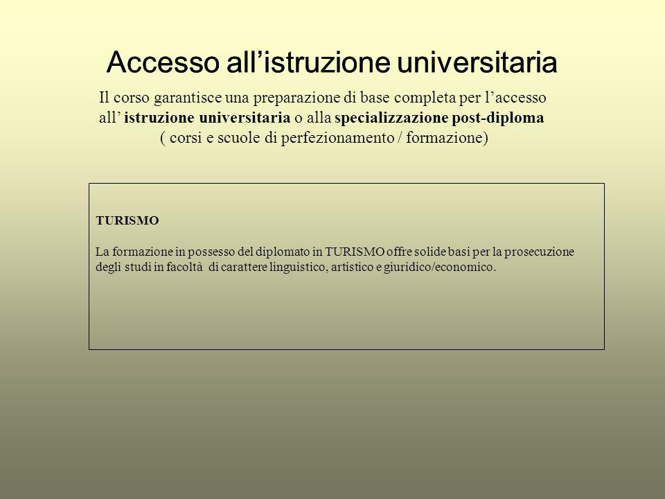 Accesso allistruzione universitaria Il corso garantisce una preparazione di base completa per laccesso all istruzione universitaria o alla specializza