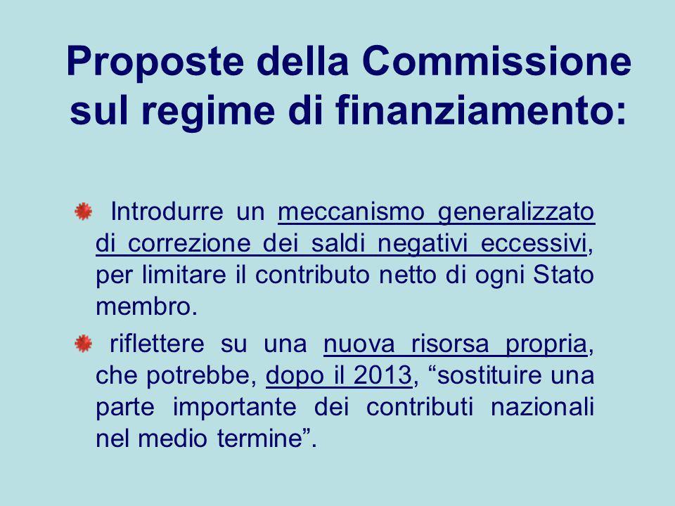 Proposte della Commissione sul regime di finanziamento: Introdurre un meccanismo generalizzato di correzione dei saldi negativi eccessivi, per limitar