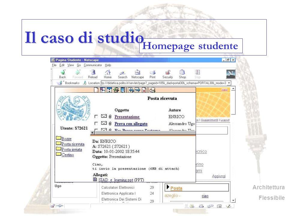 Homepage studente Il caso di studio Architettura Flessibile