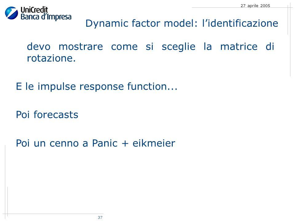 37 27 aprile 2005 devo mostrare come si sceglie la matrice di rotazione.