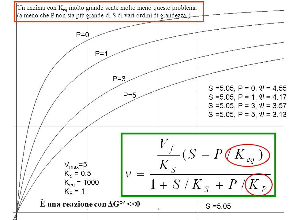 P=0 P=1 P=3 P=5 V max =5 K S = 0.5 K eq = 1000 K P = 1 S =5.05, P = 0, V = 4.55 S =5.05, P = 1, V = 4.17 S =5.05, P = 3, V = 3.57 S =5.05, P = 5, V =