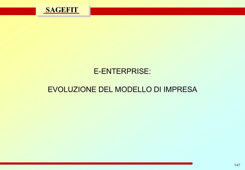 32/47 progetto di massima/esecutivo SAGEFIT Come avviare il servizio WWW: Lessons Learned 199819992000200120022003 Years eEconomy Deployment 2 IMPLEMENTAZIONE GRADUALE COINVOLGIMENTO CONTINUO MASSIMA FLESSIBILITA DEFINIZIONE OBIETTIVI ARCHITETTURA INFORMATICA 1 ANALISI CRITICA CONTINUA MONITORAGGIO ATTIVITA/COSTI RAPIDITA DECISIONALE MINIMI TEMPI DI REAZIONE 3
