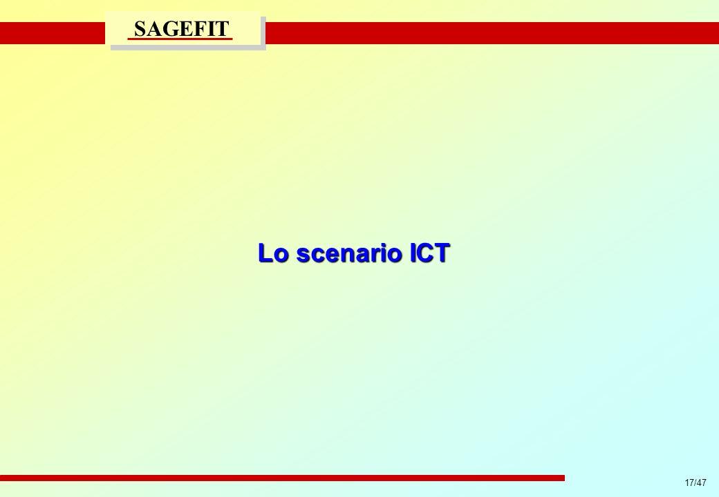 17/47 progetto di massima/esecutivo SAGEFIT Lo scenario ICT
