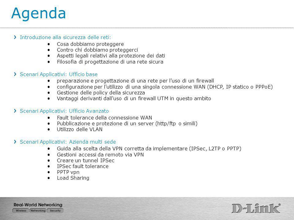 Utilizzo delle VLAN 3 Salviamo i cambiamenti ed attiviamo la configurazione Il passo successivo riguarda la configurazione dellapparato esterno al firewall che dovrà gestire le Vlan e quindi ….